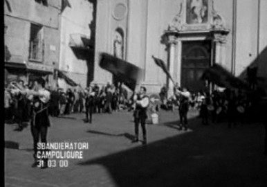 Spettacolo degli sbandieratori a Campo Ligure