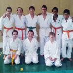 Il gruppo esordienti della polisportiva Masone judo in gara il 24/03 a Genova