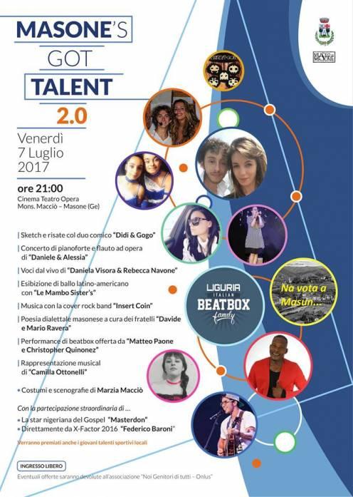 Masone's got talent - manifesto